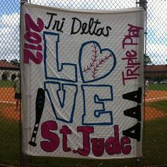 Great banner for Tri Delta Triple Play!