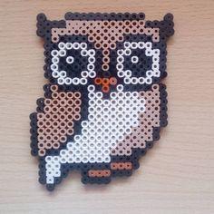 Owl hama beads by satur_art