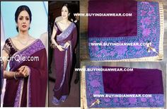 $99 Sridevi Gorgeous Saree with free shipping offer only at www.buyindianwear.com