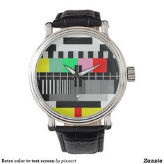 Retro color tv test screen watches