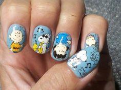 スヌーピー(SNOOPY) : Character nail art