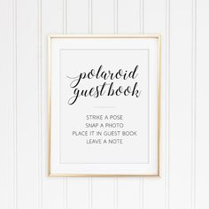 Polaroid Guest Book Sign Printable Guest Book Sign by OrchardBerry