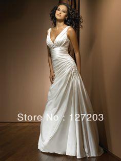 2013 Sexy Slim Fit Sheath Pleat Empire Waist Silk Taffeta Wedding Bridal Dress Evening Party Dress US $175.00