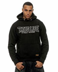 Thug Life Street Boxing Hoodie Schwarz