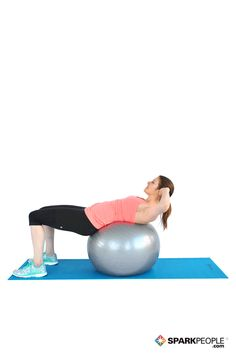 Today's Exercise: Crunches with Ball