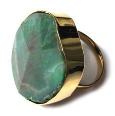 well actually for lola...for oscar to obtain....Dark Green Agate Ring - Jewelry by Taolei - Events