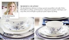The 'Modern Graphic' collection by Ceci Johnson of Ceci New York for NewlyWish Registry Re-Patterned #wedding #registry #style