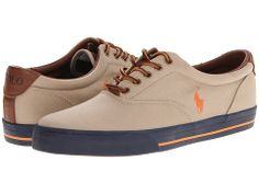 Polo Ralph Lauren Vaughn Khaki/Br Si Orange/Navy sneakers