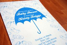 Baby Shower Invitation - available in blue, pink or a mix of both