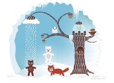 winter calendar illustration by Crabu on DeviantArt
