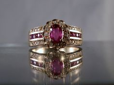 Vintage+Diamond+Natural+Ruby+14k+Yellow+Gold+by+DanPickedMinerals,+$1,075.00