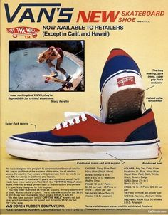 7e1da51929 Classic. vintage-vans-advertising-skateboard vans off the wall skateboardshoe