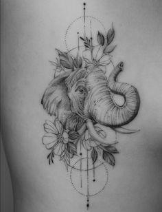 elephant tattoos ~ elephant tattoos _ elephant tattoos small _ elephant tattoos with flowers _ elephant tattoos mother daughter _ elephant tattoos meaning _ elephant tattoos for women _ elephant tattoos men _ elephant tattoos sleeve Cute Tattoos, Beautiful Tattoos, Flower Tattoos, Body Art Tattoos, Small Tattoos, Tattoos For Guys, Ear Tattoos, Celtic Tattoos, Tattos
