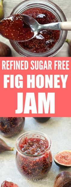 Paleo Fig Honey Jam: I love making jam! OMG and this one is Paleo! It's perfect for the paleo diet. This is refined sugar free and gluten free but still sweet and tons of fig flavor. I can eat this out of the jar all the time. Love this paleo fig honey jam! Pining for later!