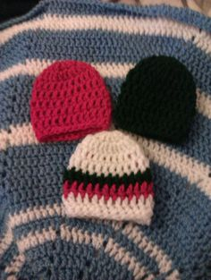 premature baby  christmas hats...set of by CodyCraftyDelights, £5.50