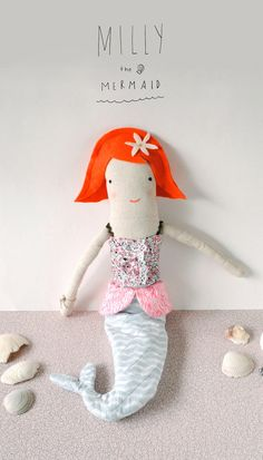 Milly The Mermaid Doll Pattern di tuesdaymourning su Etsy, $11.00