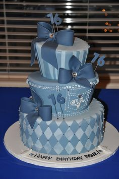 Denim and Diamonds Sweet 16 by Designer Cakes By April, via Flickr