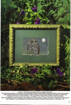 Gallery.ru / Фото #21 - 17 - tymannost Cross Stitch Owl, Australian Birds, Owls, Frame, Home Decor, Dots, Manualidades, Picture Frame, Decoration Home