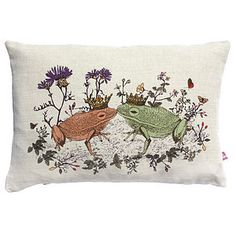 Woodlands Frog Cushion - children's room