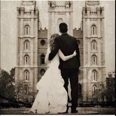 LDS Wedding Photos!! Love:) Temple