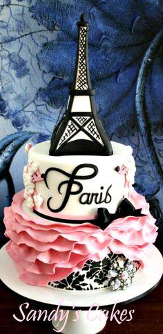 Paris Poodle Cake