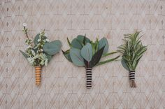 Simple boutonnieres: http://www.stylemepretty.com/canada-weddings/ontario/2013/10/07/raynham-stables-wedding-inspiration-from-life-images-tanya-list-design/ | Photography: lifeimages - http://lifeimages.ca/