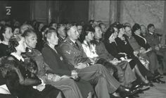 May 26, 1942. Waldstein Palace, Prague. From left: Karola Frank, State Minister Karl Hermann Frank, Lina Heydrich, Reinhard Heydrich, Mrs. Toussaint, army commander of Bohemia and Moravia Rudolf Toussaint, unknown couple, Mrs. Treuenfeld, commander of the Waffen-SS in Bohemia and Moravia Karl von Treuenfeld, Mrs. Commichau,  chief of RAD in Bohemia and Moravia Alexander Commichau, coordinator of cultural activities Martin Wolf. http://forum.axishistory.com