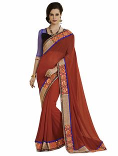 • Fabric:Orange Faux Georgette Designer Saree • Size : 5.5 m + 0.90 m Blouse • Easy to wash • Perfect Finshing just as shown in picture • Color:Orange Faux Georgette