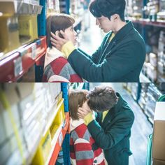 Kiss - Joon Hyung and Bok Joo! Live Action, Weightlifting Kim Bok Joo, Ver Drama, Joon Hyung, Kim Book, Swag Couples, Best Kdrama, Lee Sung Kyung, Romance