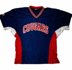 Vintage Cougars Softball Style Jersey Mens Size Large $28.00