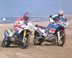 Big Bikes of the '90. Yamaha Super Tenere and Honda Africa Twin