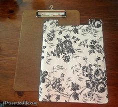 DIY Clipboard Craft Tutorial ... Let's Craft! See more awesome stuff at http://craftorganizer.org