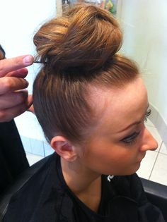 Beautiful up style / up do created by P / Wella at their Olympic Pop Up Salon.    A sport as fast-paced and relentless as Hockey demands a simple, secure style that keeps #hair off the face. This speedy bun is perfect for day or night! #london2012