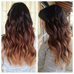 Beautiful fall #balayageombre by our newest stylist April! #handpainted using #infiniumplatine toned with #dialight