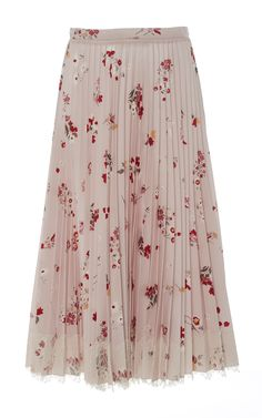 red valentino,  red florals casted on a powder pink body. Finished with a lace hem for added softness,