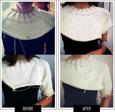 TEjidos - Knitted 2 - top-down raglan construction comparison Knitting Basics, Knitting Stitches, Knitting Patterns Free, Knit Patterns, Free Knitting, Knitting Projects, Baby Knitting, Knitting Ideas, Raglan Pullover