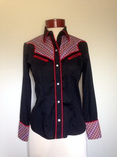Vintage western rodeo rockabilly blouse by twinflamesboutique