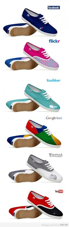 Another Fun Infographic :-) Social Media Fashion Shoes .all the colors!