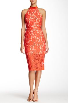 A.B.S. by Allen Schwartz | Halter Neck Lace Sheath Dress | Nordstrom Rack  Sponsored by Nordstrom Rack.
