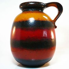 "XL Fat Lave Vase • Scheurich • ""Ceramos"" Serie • West German Pottery • H 30 cm"