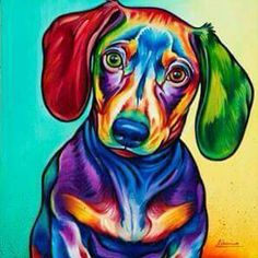 In love with this print. Dachshund watercolor.