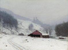 """The Sawmill at Shady,"" Birge Harrison, ca. 1905, oil on canvas, 30-1/4 x 40"", Wichita Art Museum."