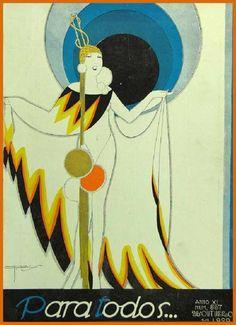 whisters: J. Carlos Illustrated Para Todos Cover, 1920. | Art Deco | Bloglovin'