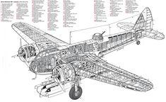 I Cutaway Ww2 Aircraft, Military Aircraft, Bristol Blenheim, Plane Drawing, Ww2 Planes, Aircraft Design, Cutaway, Survival Skills, Techno