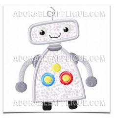 ROBOTS COLLECTION MACHINE EMBROIDERY DESIGNS ON CD OR USB