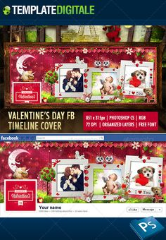 San Valentino Facebook Cover, Valentine's Day  Cover