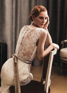 Bridal Pose sitting down