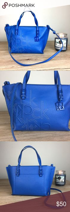 Calvin Klein blue cute Crossbody bag Gently used. Cute design. Calvin Klein Bags Crossbody Bags