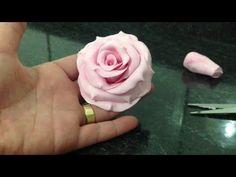 Faça várias #rosas de #biscuit para bolo - modo fácil - YouTube