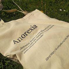 becreativespace / Taška Anorexia - MINDLESS Anorexia, Reusable Tote Bags